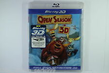 OPEN SEASON IN 3D BLU RAY disc NEW SEALED