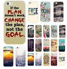 Hot New Quote & Saying Painted Pattern Back Case Cover For iphone 4S 5 5S 5C 6