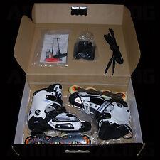 SEBA HiGH DELUXE 2010 SLALOM iNLiNE ROLLER SKATES WHiTE BLACK BLUE EUR 42 US 9