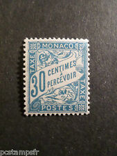 MONACO 1905/09, timbre TAXE 6, type DUVAL, neuf**, VF MNH STAMP, TAX