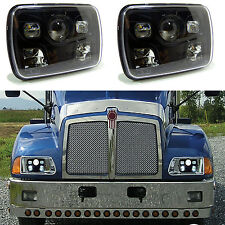 Kenworth T300 LED Black Headlight Headlamp LH RH Low/High Bulb Kit 1997-2010