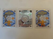 1999 Upper Deck Digimon Exclusive Preview Power Deck CD-ROM -You get 3 card lot!