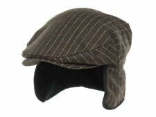 New Era EK Collection Earflap Gatsby Hat Cap Gray Brown Striped Ivy Driver L