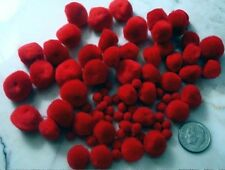 Red pom poms 5mm-13mm assorted sizes 80 piece lots for crafts projects misc005