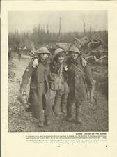 WW1 Print -  A WOUNDED SOLDIER AT THE BATTLE OF THE ANCRE ON THE SOMME