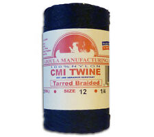 Catahoula #12 Tarred Braided Nylon Twine 1/4 lb Spool 400' Test Bank Line 95 lb