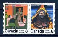 CANADA - 1976 - Scrittori canadesi: Germaine Guèvremont  e  Robert W. Service