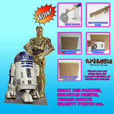 The Droids R2-D2 and C3P-O Star Wars LIFESIZE CARDBOARD CUTOUT