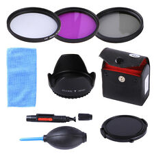 52MM UV CPL FLD Filter Kit + Lens Hood & Cap for Nikon D5500 D5200 D3300 18-55mm