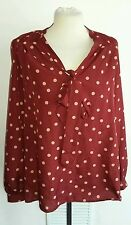 George polka dot top size 12