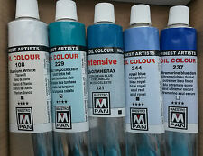 Seascape Painting Colours Selection 5 x 45ml Maestro Pan Professional Oil Paint