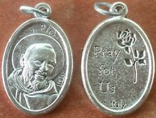 Saint St. Padre Pio of Pietrelcina Medal + Lightweight, shiny + Pray for Us