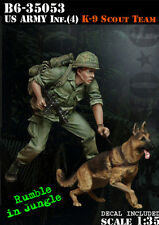 Bravo 6 US Army Infantry K-9 Scout Team Vietnam 35053 1:35 Model Unpainted kit