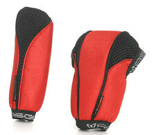 Mesh Fabric Gear Shift Knob & Handbrake Cover Set Red