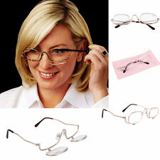 Women Make-Up 3 x Magnifying Make Up Eye Glasses Spectacles Flip Down Lens