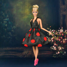Dolls Clothes Black Wedding Evening Party Dress Mini Skirt for Barbie Doll S