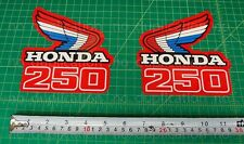 86' 1986 honda CR250R dirtbike 2pc Vintage gas tank decals stickers MX HRC