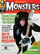Steve Stevens 1993 Washburn Monsters Seymour Duncan Promo Poster Billy Idol Rare