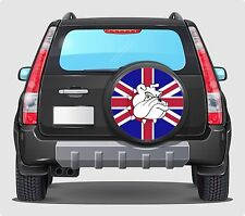 Spare Wheel Cover 4x4 Graphic Sticker   BRITISH BULL DOG UK FLAG Laminated 550mm