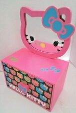 Hello Kitty 2-in-1 Jewelry Box with Removable Mirror-New-Pink/Blue/Green