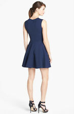 Diane von Furstenberg Jeannie Fit Flare Dress Vivid Blue Us sz 6  UK sz 10 $375