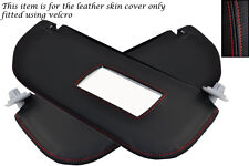 RED STITCH FITS CITROEN SAXO 1996-2004 2X SUN VISORS LEATHER COVERS