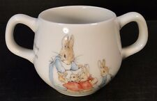 Wedgwood Peter Rabbit Child's Two Handled Mug Cup EXCELLENT!