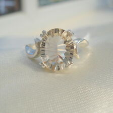 Imperial Topaz Concave Cut Solitaire Ring
