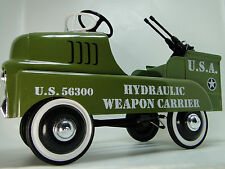 Dodge Army Truck Pedal Car WW2 Jeep U S Military Vintage Anti Aircraft Model Art