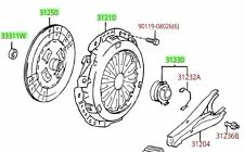 Toyota 4Runner Tacoma T100 2.7L 4cyl Clutch Disc Kit Genuine OE OEM