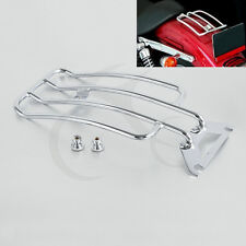 Chrome Solo Seat Luggage Rack For Harley Electra Glide Road King Touring 97-05