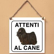 Puli 1 Attenti al cane Targa cane cartello