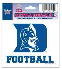 DUKE UNIVERSITY FOOTBALL DECAL AUTO WINDOW CAR TRUCK DORM REMOVABLE