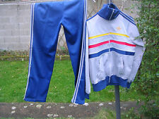 survetement adidas vintage gris/bleu,taille M,TBE/VGG.80',ventex.made in france.