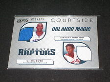 DWIGHT HOWARD CHRIS BOSH CERTIFIED GENUINE AUTHENTIC BASKETBALL JERSEY CARD /179