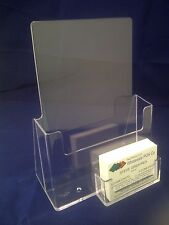 1 x A5 LEAFLET HOLDER BROCHURE DISPENSER & BUSINESS CARD HOLDERS DISPLAY STANDS
