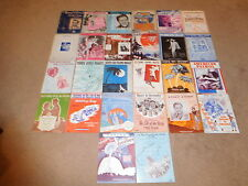 LOT-26 VINTAGE SHEET & SONG BOOKS MUSIC FROM THE 30'S THROUGH 70's MOVIES, ETC.