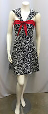 BETSEY JOHNSON SAILOR DRESS ANCHORS PIN UP GIRL STYLE RED WHITE BLUE SIZE 6