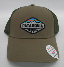 Patagonia Mens Fitz Roy Crest LoPro Trucker Snapback Cap/Hat 38055 Ash Tan