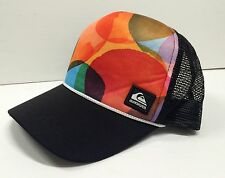 NWOT Quiksilver Cap Colored Circles Orange Red Green, 1 Size, Trucker Mesh Back