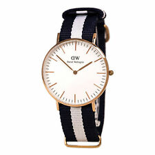 Daniel Wellington 0503DW Womens White Dial Blue & White Band Watch