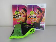 WII Fit Zumba Fitness Game & Cintura BIG BOX-NINTENDO WII-No Manuale