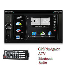 Universal 2 Din Car DVD Player Stereo Radio Touch Screen With Bluetooth ATV GPS