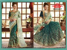 Beautiful Indian Bollywood Designer PArty Wedding Bridal saree Sari Dress