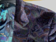 NWT - ROBERT GRAHAM Rainbow PAISLEY Cotton Blazer Sport Coat Smoking Jacket - 42