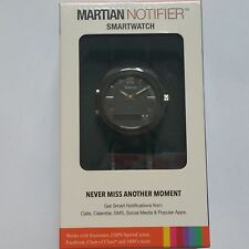 BRAND NEW Sealed Martian Watches Notifier Smartwatch T200 Black for Android ios