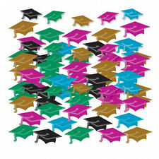 Graduation Table Confetti Party Table Decorations Multi Colour Mortar Boards
