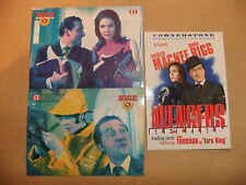 THE AVENGERS RETURN DIANA RIGG 3 CARD MAIL IN SET EMMA PEEL PATRICK MacNEE