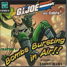 G I JOE RARE MINI COMIC GIVEAWAY PROMO 1 BOMBS BURSTING IN AIR LARRY HAMA 2003