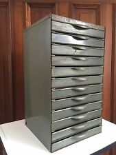 Vintage EQUIPTO 12 Drawer INDUSTRIAL METAL STORAGE PARTS CABINET